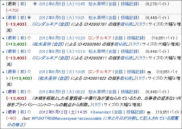 http://ja.wikipedia.org/w/index.php?title=%E6%9D%BE%E6%B0%B8%E8%8B%B1%E6%98%8E&action=history