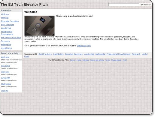 http://sites.google.com/site/edtechelevatorpitch/