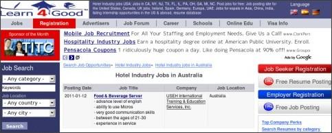 http://www.learn4good.com/jobs/language/english/list/hotel_industry/australia/