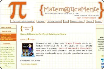 http://lanostramatematica.splinder.com/