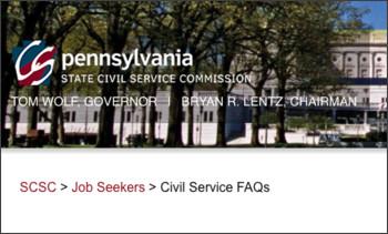 http://www.scsc.pa.gov/Job-Seekers/Pages/CivilServiceFAQs.aspx