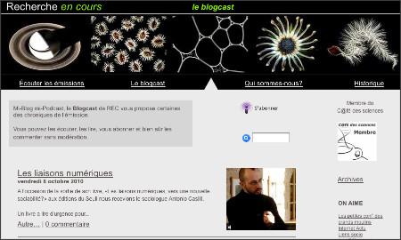 http://www.rechercheencours.fr/REC/Blogcast/Blogcast.html