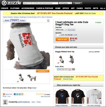 http://www.zazzle.com/i_heart_wikileaks_on_side_cute_doggy_dog_shirt-155169864368444021