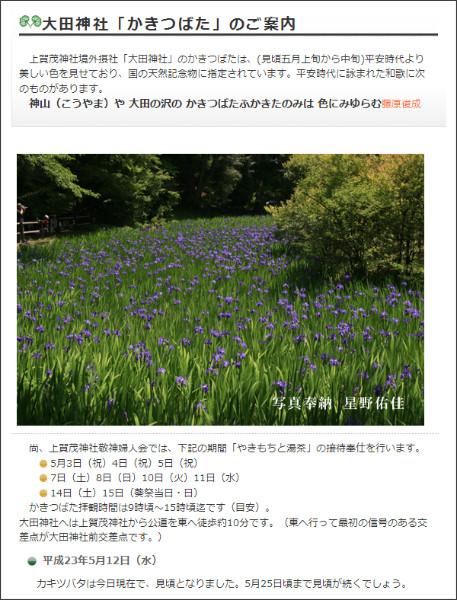 http://www.kamigamojinja.jp/topics/2011/2011_kakitsubata.html