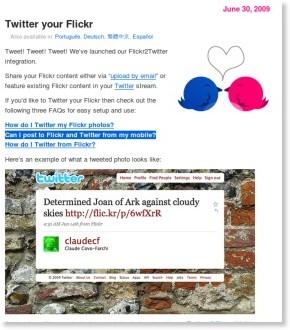 http://blog.flickr.net/en/2009/06/30/twitter-your-flickr/