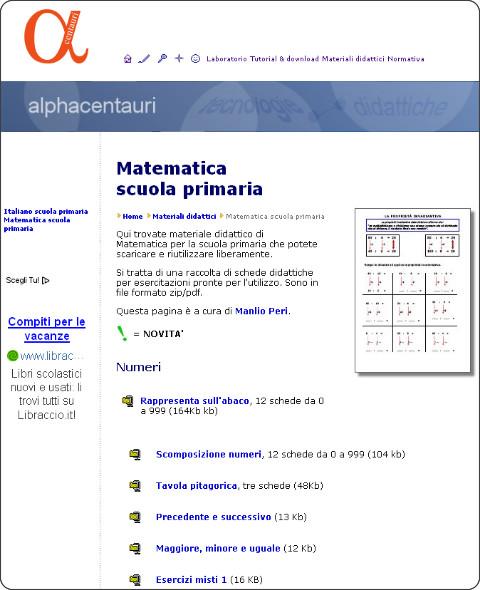 http://www.alphacentauri.it/testi/materiali_did/primaria_matematica.htm