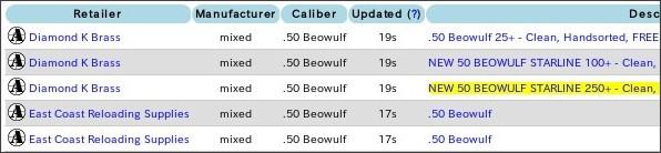 http://ammoseek.com/reloading/brass/50-beowulf?ar=1