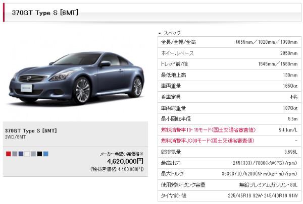 http://www2.nissan.co.jp/SKYLINECOUPE/v360710g06.html?gradeID=G06&model=SKYLINECOUPE