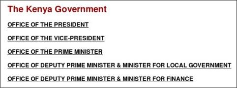 http://www.statehousekenya.go.ke/government/ministries.htm