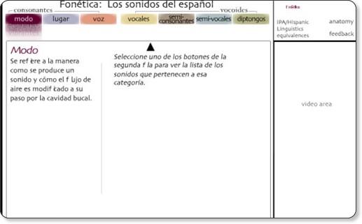 http://www.uiowa.edu/~acadtech/phonetics/spanish/frameset.html