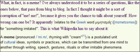 http://harrietdevine.typepad.com/harriet_devines_blog/2010/05/meme-from-cornflower.html