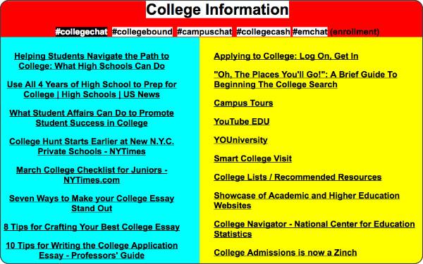 http://cybraryman.com/college.html