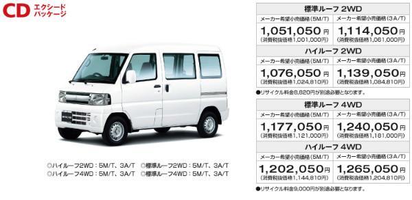 http://www.mitsubishi-motors.co.jp/minicab_van/lineup/index.html
