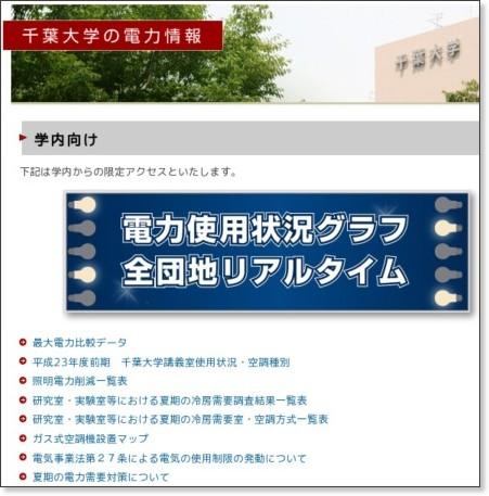 http://www.chiba-u.ac.jp/others/power_saving/index.html