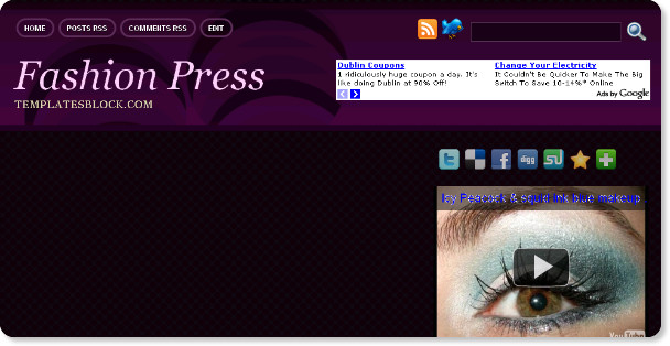 Best Purple Fashon Blogger Templates