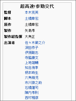 https://ja.wikipedia.org/wiki/%E8%B6%85%E9%AB%98%E9%80%9F!%E5%8F%82%E5%8B%A4%E4%BA%A4%E4%BB%A3
