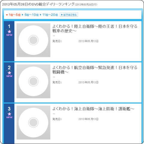 http://www.oricon.co.jp/rank/dg/d/2013-05-26/