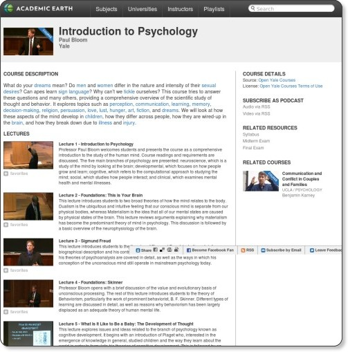 http://academicearth.org/courses/introduction-to-psychology