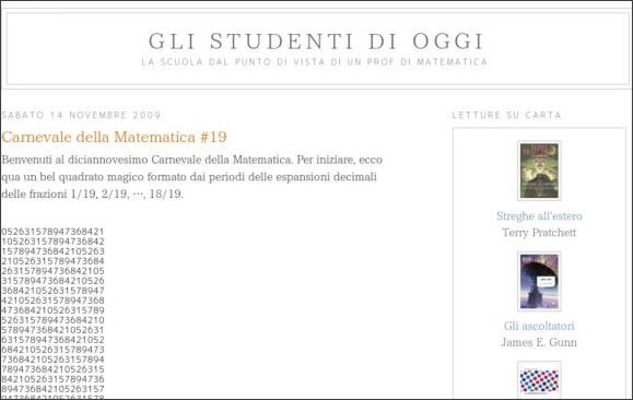 http://proooof.blogspot.com/2009/11/carnevale-della-matematica-19.html