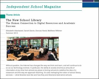 http://www.nais.org/Magazines-Newsletters/ISMagazine/Pages/The-New-School-Library.aspx