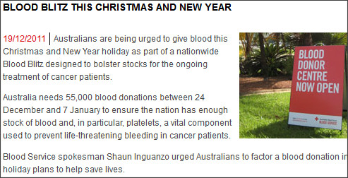http://www.donateblood.com.au/media-centre/latest-national-news/blood-blitz-this-christmas-and-new-year