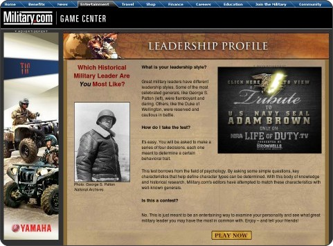 http://www.military.com/LeaderShipTest/1,16183,main.htm,,00.html