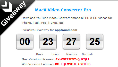 http://www.macxdvd.com/giveaway/exclusive-giveaway-for-appfound.htm