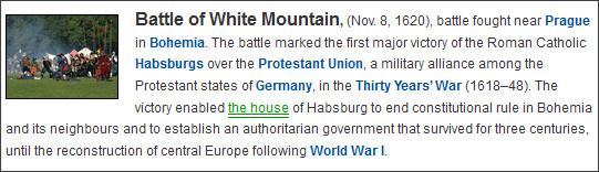 http://www.britannica.com/EBchecked/topic/642395/Battle-of-White-Mountain
