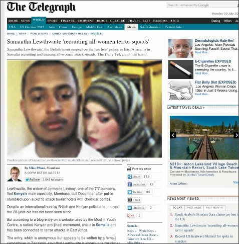 http://www.telegraph.co.uk/news/worldnews/africaandindianocean/somalia/9384893/Samantha-Lewthwaite-recruiting-all-women-terror-squads.html