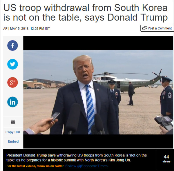 https://economictimes.indiatimes.com/news/international/world-news/us-troop-withdrawal-from-south-korea-is-not-on-the-table-says-donald-trump/videoshow/64039097.cms