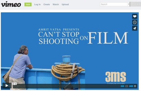 Can't Stop Shooting on Film on Vimeo