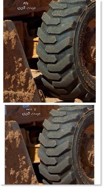 http://www.stevehuffphoto.com/2010/08/28/crazy-comparison-leica-m9-vs-sony-nex-5/