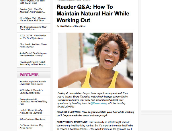 http://www.essence.com/2012/08/09/reader-q-and-a-how-to-maintain-natural-hair-while-working-out/