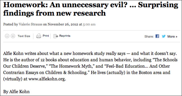 http://www.washingtonpost.com/blogs/answer-sheet/wp/2012/11/26/homework-an-unnecessary-evil-surprising-findings-from-new-research/
