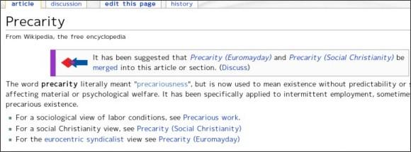 http://en.wikipedia.org/wiki/Precarity