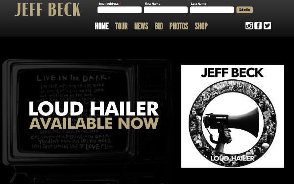 http://www.jeffbeck.com/