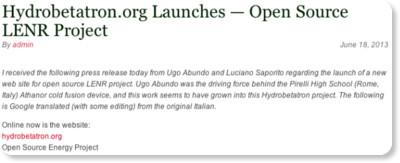 http://www.e-catworld.com/2013/06/hydrobetatron-org-launches-open-source-lenr-project/