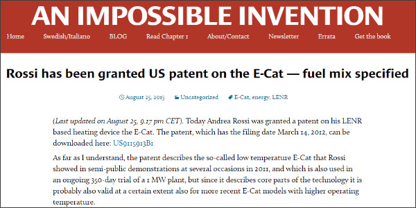 http://animpossibleinvention.com/2015/08/25/rossi-has-been-granted-us-patent-on-the-e-cat/