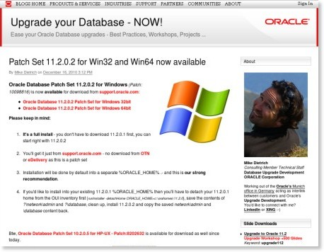 http://blogs.oracle.com/UPGRADE/