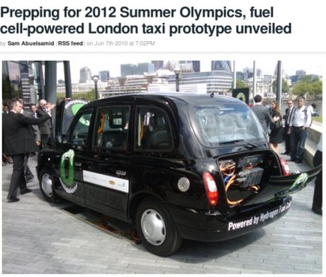 http://green.autoblog.com/2010/06/07/prepping-for-2012-summer-olympics-fuel-cell-powered-london-taxi/