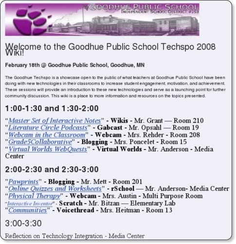 http://goodhuetechspo2008.pbwiki.com/FrontPage
