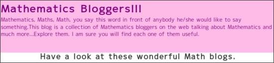 http://mathematicsbloggers.blogspot.com/