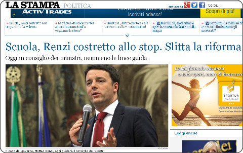 http://www.lastampa.it/2014/08/29/italia/politica/scuola-renzi-costretto-allo-stop-slitta-la-riforma-Ey8q5zjNoRRAGXcC19MnQP/pagina.html