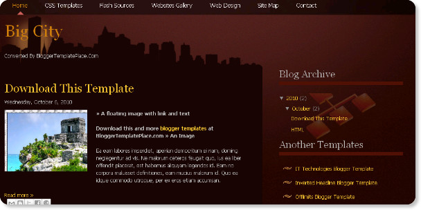 best dark blogger templates