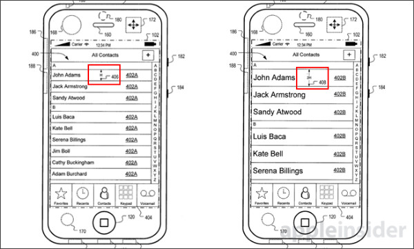 http://appleinsider.com/articles/14/01/14/apples-patented-gui-compensates-for-iphone-motion-minimizes-errant-touches