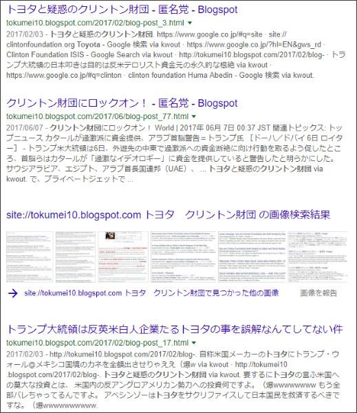 https://www.google.co.jp/search?ei=fUadWvmsGIvqjwPChrjoBQ&q=site%3A%2F%2Ftokumei10.blogspot.com+%E3%83%88%E3%83%A8%E3%82%BF%E3%80%80%E3%82%AF%E3%83%AA%E3%83%B3%E3%83%88%E3%83%B3%E8%B2%A1%E5%9B%A3&oq=site%3A%2F%2Ftokumei10.blogspot.com+%E3%83%88%E3%83%A8%E3%82%BF%E3%80%80%E3%82%AF%E3%83%AA%E3%83%B3%E3%83%88%E3%83%B3%E8%B2%A1%E5%9B%A3&gs_l=psy-ab.3...25643.26791.0.27754.2.2.0.0.0.0.135.261.0j2.2.0....0...1c.2j4.64.psy-ab..0.0.0....0.S_Q9XkuOPgo
