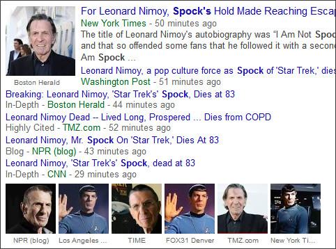 https://www.google.com/search?hl=en&gl=us&tbm=nws&authuser=0&q=+Spock&oq=+Spock&gs_l=news-cc.12..43j0j0i5j43i53.573071.573071.0.573959.1.1.0.0.0.0.353.353.3-1.1.0...0.0...1ac.2.sKfvTjxSIx4