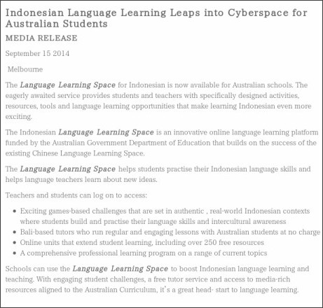 http://www.esa.edu.au/about-us/media-releases/indonesian-language-learning-leaps-into-cyberspace-for-australian-students
