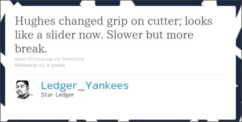 http://twitter.com/#!/Ledger_Yankees/status/50731441549623296