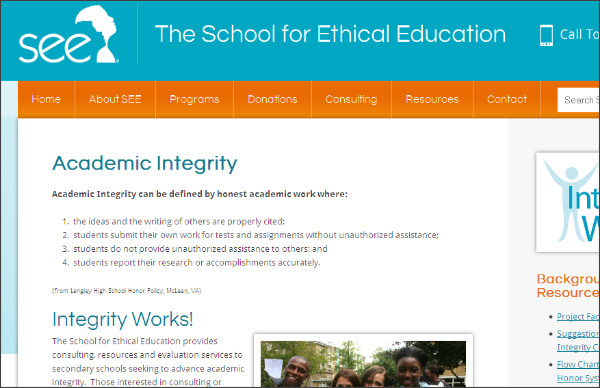 http://ethicsed.org/academic-integrity